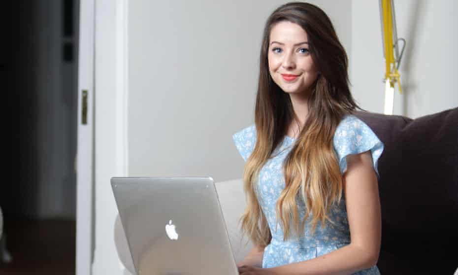 Zoella - an internet sensation who vlogs, blogs, tweets and instagrams.