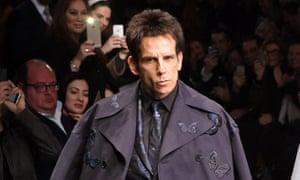 Ben Stiller on the catwalk at Valentino show