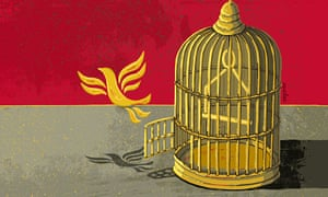 'There is only one way out of the Liberal Democrats' predicament, and that way is up.'