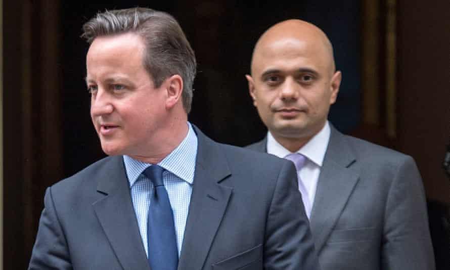 David Cameron with Javid