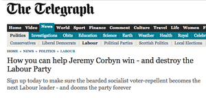 Telegraph article on Corbyn