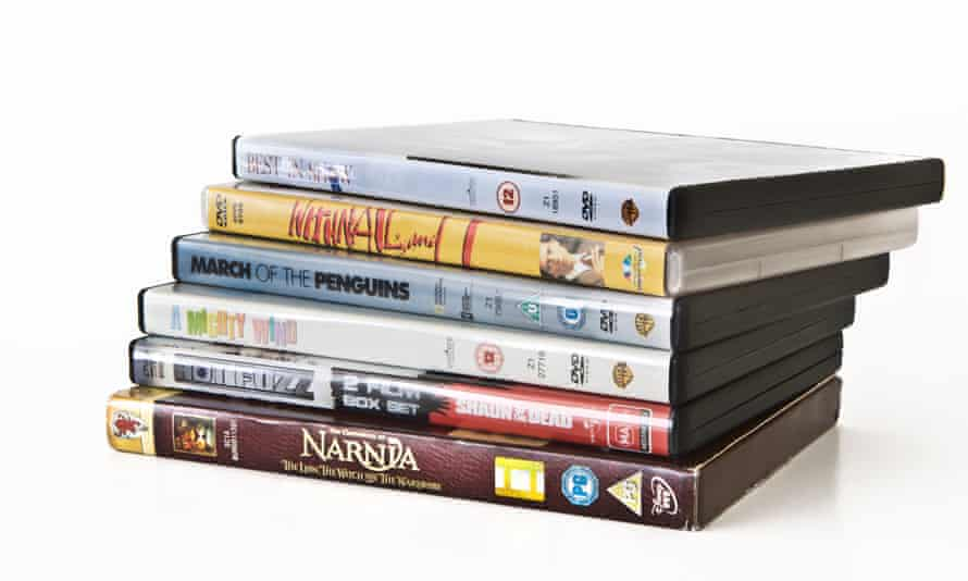 Here today, gone tomorrow … a pile of DVDs.