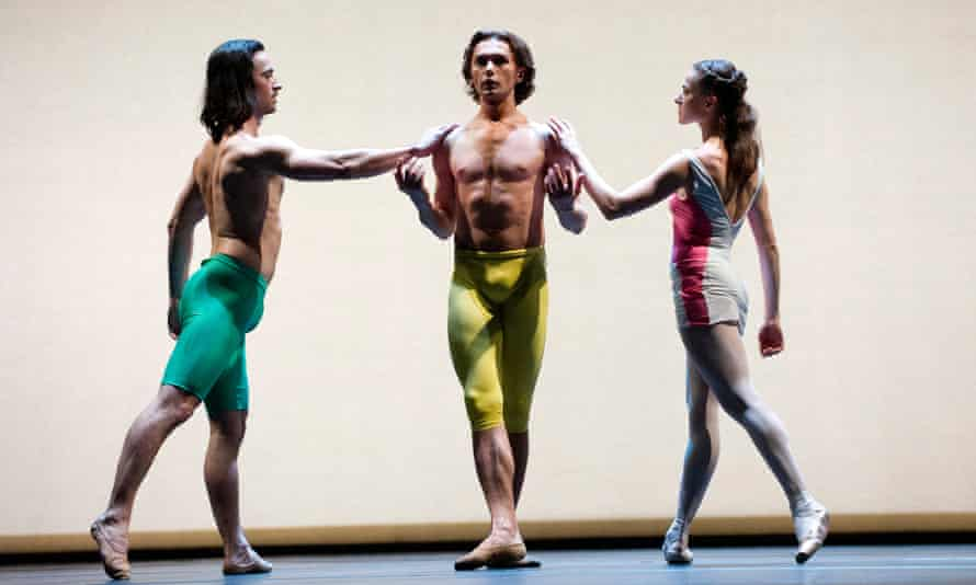 Aaron Sillis (left) with Ivan Putrov and Elena Glurdjidze in Ithaca from Putrov's Men In Motion.