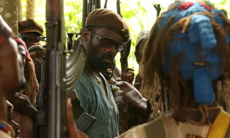 Idris Elba in the child-soldier drama Beasts Of No Nation, adapted by Fukunaga from Uzodinma Iweala's novel.