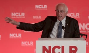 Democratic presidential candidate Sen. Bernie Sanders, I-Vt., speaks at a the National Council of La Raza Annual Conference, Monday, July 13, 2015, in Kansas City, Mo.