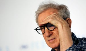 Woody Allen at a press conference for Irrational Man in Cannes.
