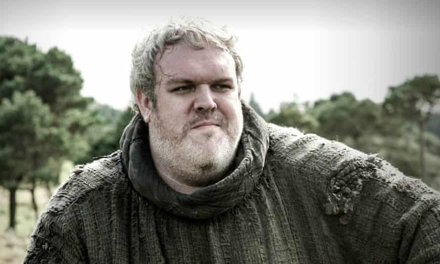 Rave of Thrones … Kristian Nairn as Hodor in the hot TV show.