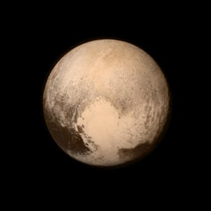 NASA handout photo of Pluto obtained by the New Horizons spacecraft July 2015