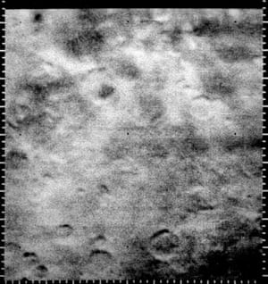 The first picture clearly showing craters on Mars, taken in 1965