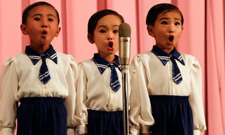 North Korean children perform at a theatre in Rason.