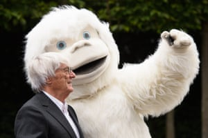 Bernie Ecclestone, the Formula One chief executive, poses for a selfie at the launch of the Lost Yeti Hunters – Mongol Rally