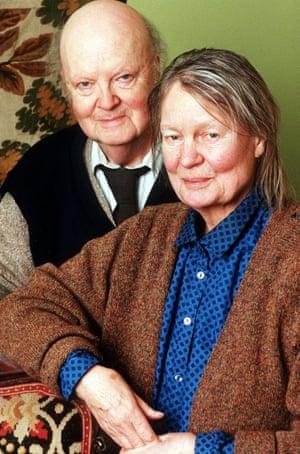 The novelist Iris Murdoch with her husband, John Bayley