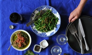 Beans with Trapanese pesto
