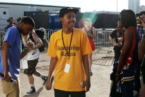 Earl Sweatshirt waits backstage before performing at South by Southwest in 2013
