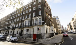 The exterior of Scott Young's apartment in Marylebone, London.