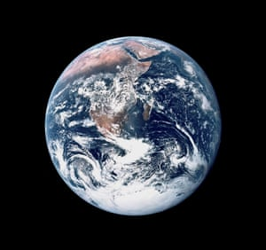 This view of Earth was seen by the Apollo 17 crew en route to the moon in 1972