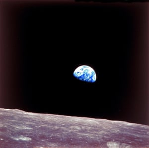 Earthrise over the moon, taken by Apollo 8 crew, 24 December, 1968