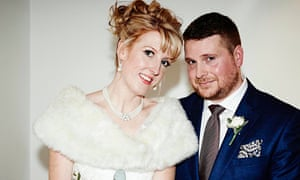 Emma and James on their wedding day