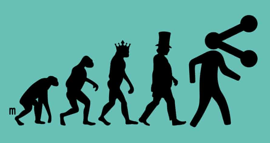 Postcapitalism evolution. Illustration by Joe Magee