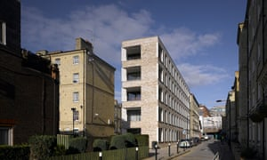 Darbishire Place, London E1 by Niall McLaughlin: 'a bracingly simple oblong block set with oblong windows'.