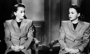 Double play ... de Havilland in The Dark Mirror.