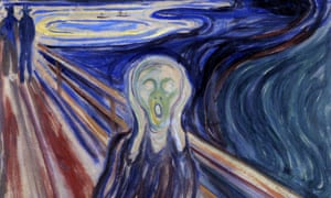 Detail from Edvard Munch's best-known painting The Scream