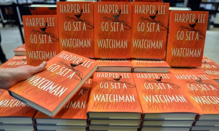 A pile of copies of the UK edition of Harper Lee's Go Set a Watchman