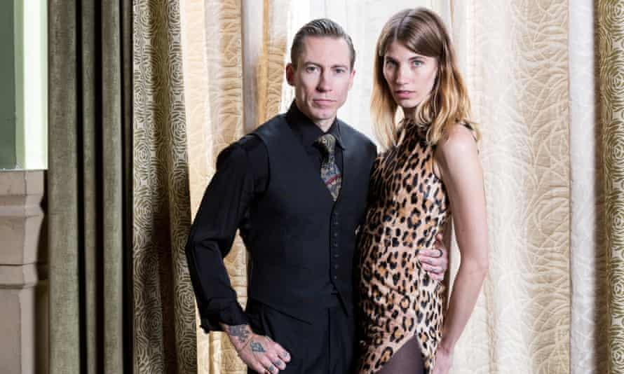 Justin O'Shea and Veronika Heilbrunner, photographed at the Soho Grande Hotel in New York.