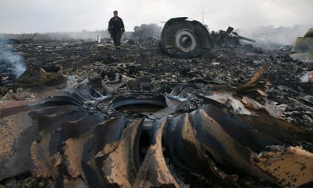 The crash site of MH17.