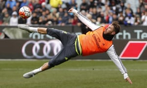 Sergio Ramos trains in Australia with Real Madrid, who have named him captain for the coming season.