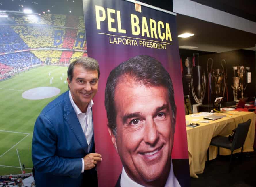 Joan Laporta is standing against Toni Freixa, Agustí Benedito and the outgoing president Josep Maria Bartomeu.