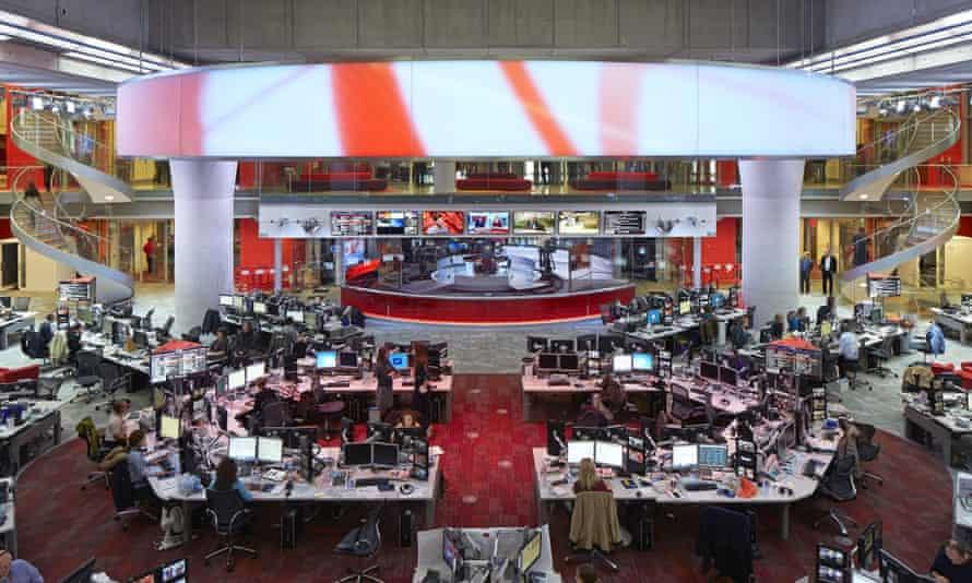 The BBC newsroom
