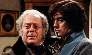 Aubrey Morris and Ian McShane in Disraeli (1978).