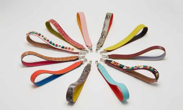Fendi's handbag straps.
