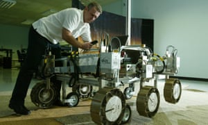 Lester Waugh, engineering manager at Eads Astrium space agency. with the ExoMars Rover, which will be sent to Mars to explore the planet's surface.