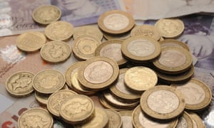 Pound coins and bank notes