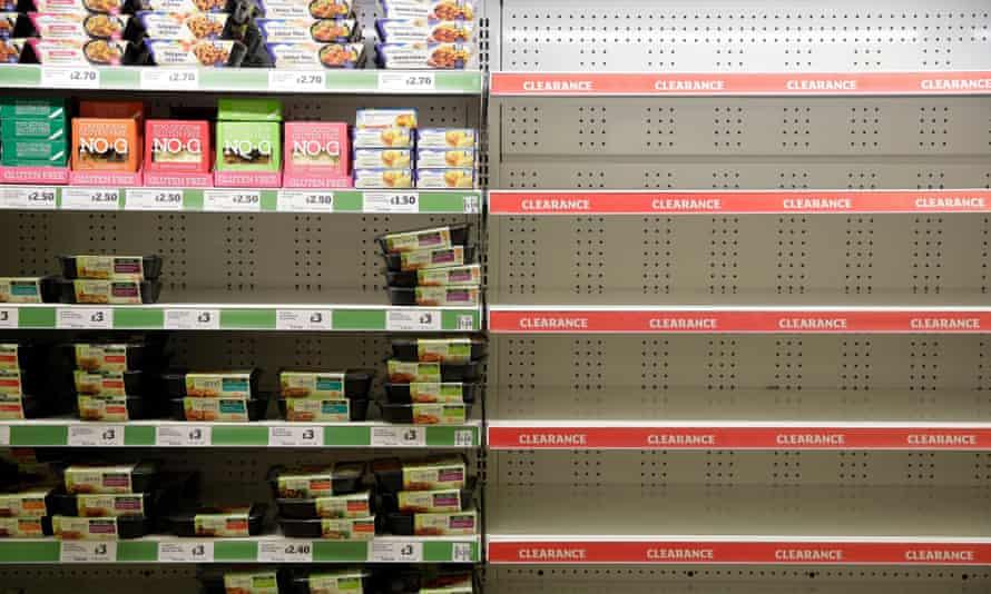 Sainsbury's clearance shelf