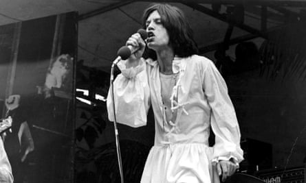 Mick Jagger at the Hyde Park concert
