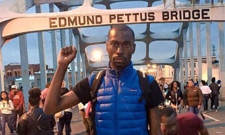 Deray Mckesson in a tweeted picture from Selma, Alabama.