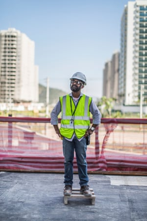 'I'm happy with where we are' ... construction manager Geovane Ribeiro. Photograph: Lianne Milton for the Guardian