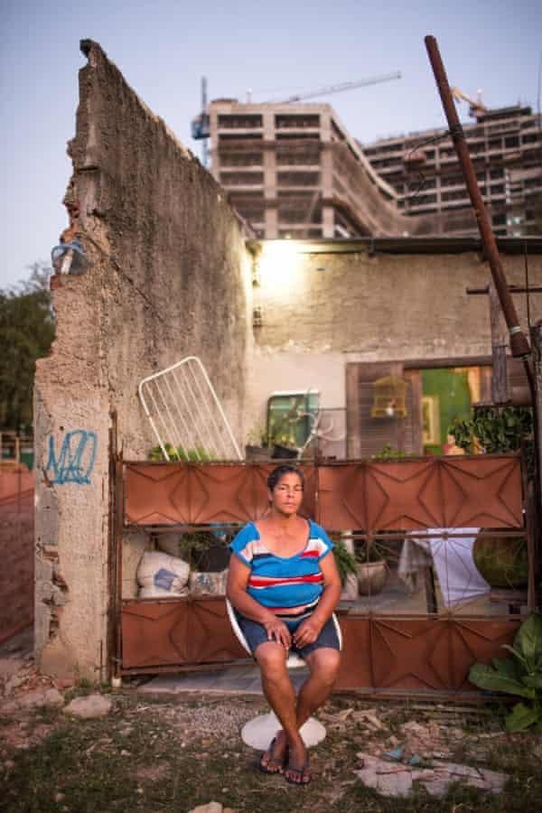 Resisting an eviction notice ... Jane Nascimento de Oliveira. Photograph: Lianne Milton for the Guardian