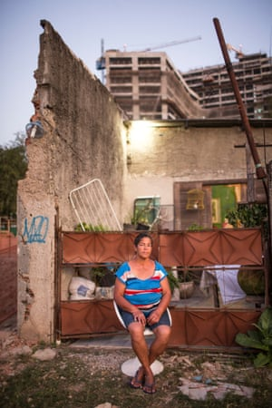 Resisting an eviction notice ... Jane Nascimento de Oliveira. Photograph: Lianne Milton for the Guardian