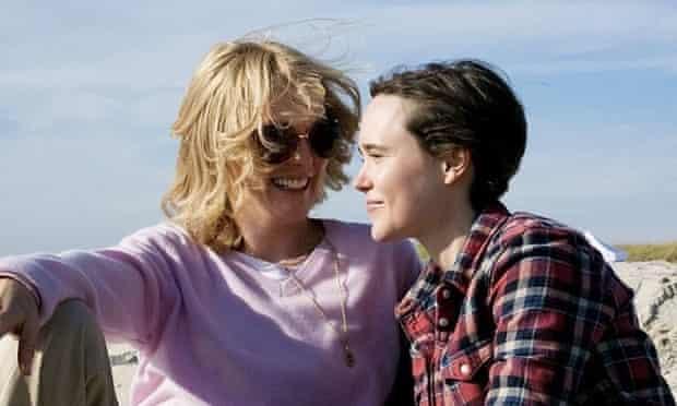 Julianne Moore and Ellen Page in Freeheld