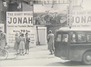 a travelling Jonah the Whale show reaches Rugby, March 1954.