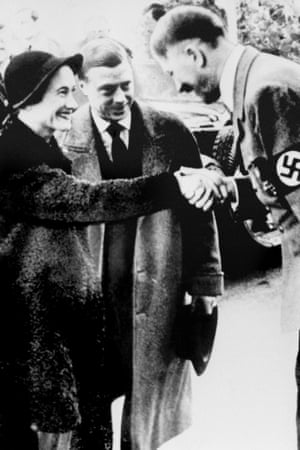 The Duke and Duchess of Windsor in 1937 meeting Hitler in Munich.