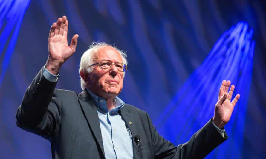 Bernie Sanders appears at the Netroots Nation 2015 Presidential Town Hall.