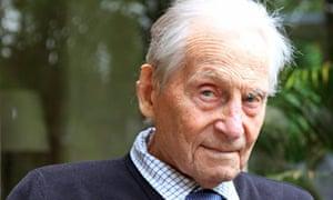 The Rev Owen Chadwick on his 98th birthday last year