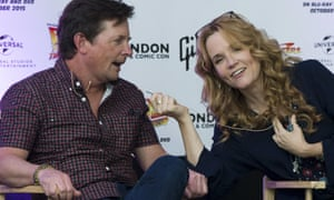 Lea Thompson and Michael J Fox at the event.