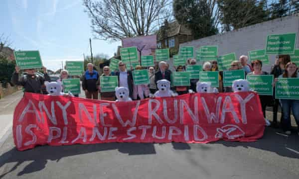 Protest against proposed Heathrow expansion in Harmondsworth