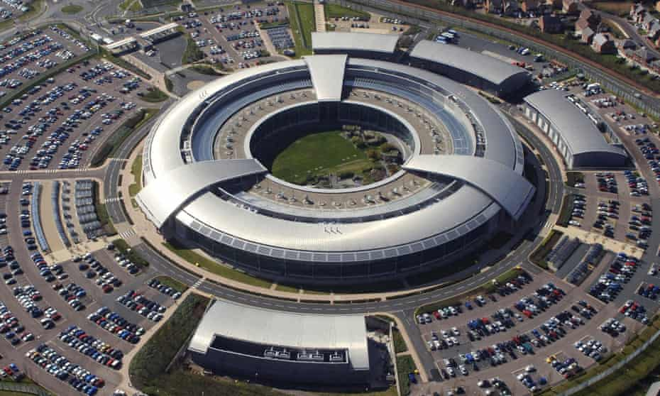 Aerial view of the British Government Communications Headquarters (GCHQ) in Cheltenham, Gloucestershire.